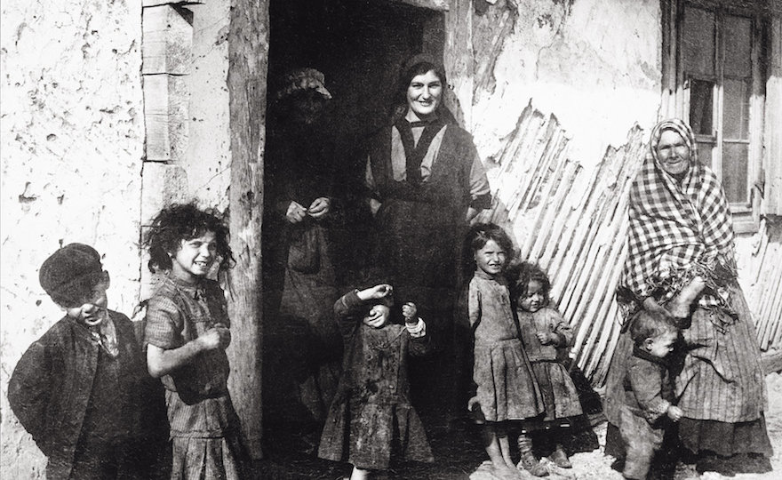 Jewish Family In Jedrzejow. Woman With Children. Poland. Photograph. About 1900.